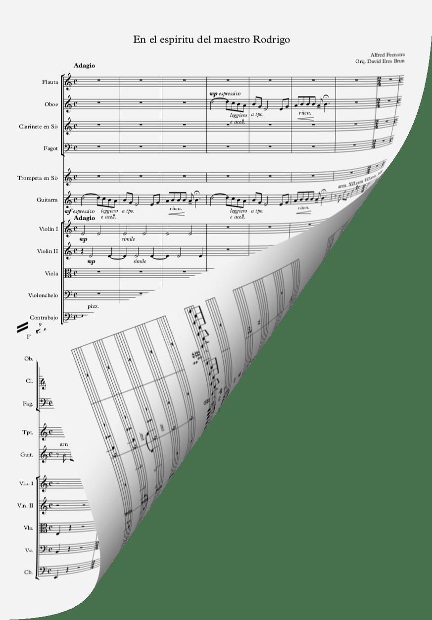 En el espiritu del maestro Rodrigo orchestra score